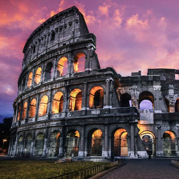 Lufo store adesivo per parete roma colosseo for Carta da parati roma